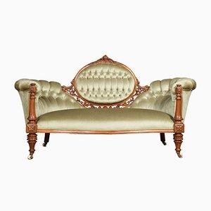Sofá antiguo de nogal