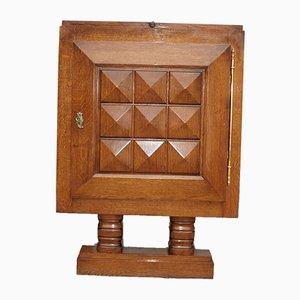 Mueble bar Art Déco de roble de Charles Dudouyt, años 30