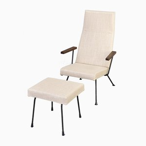 Model 1410 Lounge Chair and Ottoman by Dick Cordemeijer for Gispen, 1950s, Set of 2