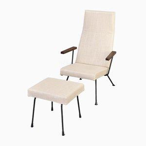Modell 1410 Sessel und Fußhocker von Dick Cordemeijer für Gispen, 1950er, 2er Set