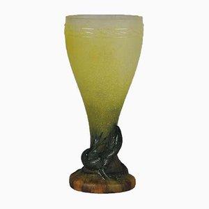 Vase mit Eidechsendekor von Amalric Walter, 1920er