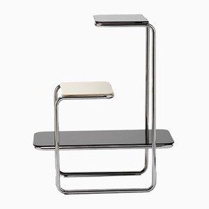 Jardinera Bauhaus vintage de acero tubular cromado de Robert Slezak