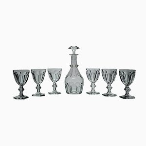Decanter & Glasses Set from Baccarat, 1950s