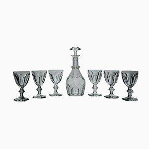 Set di bicchieri e decanter di Baccarat, anni '50