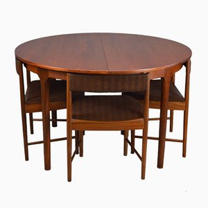 Mid-Century Teak Extendable Dining Table & 4 Chairs Set from McIntosh, 1960s