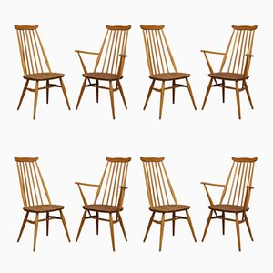 Mid-Century Dining Chairs by Lucian Ercolani for Ercol, 1960s, Set of 8