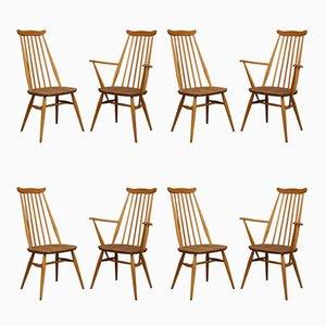Mid-Century Esszimmerstühle von Lucian Ercolani für Ercol, 1960er, 8er Set