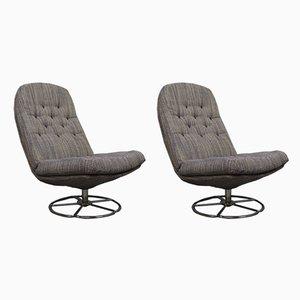 Mid-Century Swivel Chairs, 1960s, Set of 2