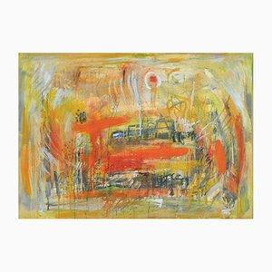Dänisches A City III Öl auf Leinwand von Mette Birckner, 2005
