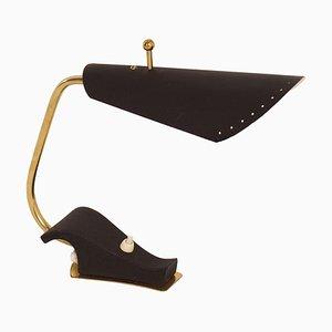 Lámpara de escritorio negra de Sweden, años 50