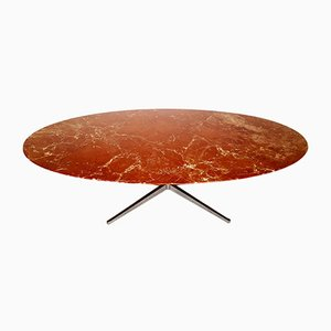 Red Marble Dining Table by Florence Knoll Bassett for Knoll, 1960s