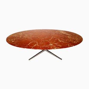 Tavolo da pranzo in marmo rosso di Florence Knoll Bassett per Knoll, anni '60