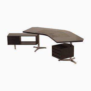 Modell T96 Chef-Schreibtisch in Bumerang-Optik von Osvaldo Borsani für Tecno, 1950er