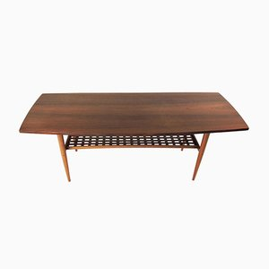 Mid-Century Swedish Teak Coffee Table from Alberts Tibro