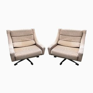 Vintage Swivel Lounge Chairs, 1970s, Set of 2