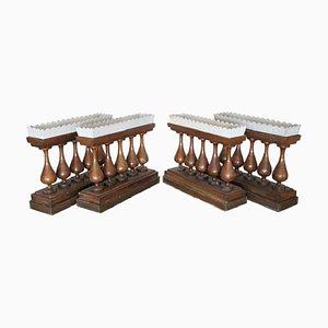 Vasi da portata antichi in quercia, metà XIX secolo, set di 4