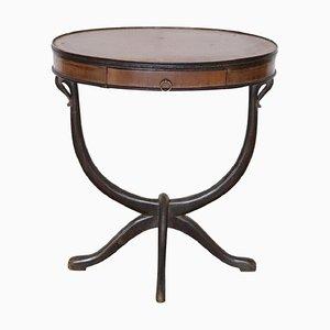 Oval Mahogany Center Table, 1930s