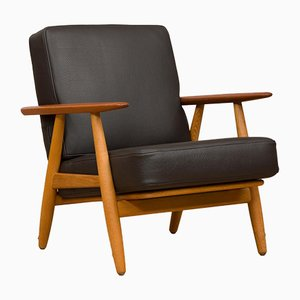 Vintage GE 240 Cigar Lounge Chair by Hans J. Wegner for Getama, 1950s