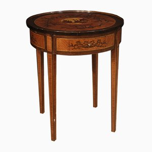 Louis XVI Style Italian Inlaid Rosewood Side Table, 1960s