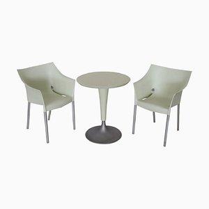 Juego de mesa y sillas de jardín DrNo de Philippe Starck para Kartell, años 90