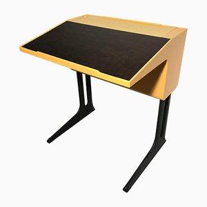 Verstellbarer gelber Schreibtisch von Luigi Colani für Flötotto, 1970er