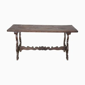 Antique Walnut Dining Table with Lyre Legs
