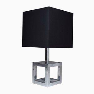 Lámpara de mesa vintage de metal cromado de Willy Rizzo para Luma