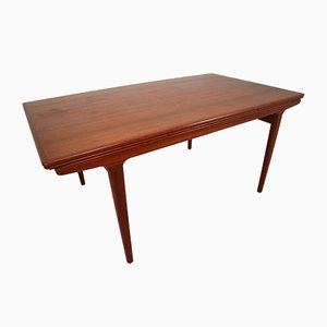 Mid-Century Danish Teak Extendable Dining Table from J.L. Møllers, 1950s