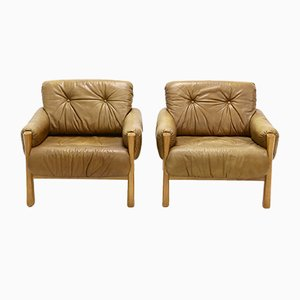 Leather B Style Lounge Chairs, 1960s, Set of 2