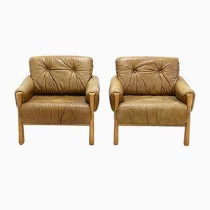 Leder B Stil Sessel, 1960er, 2er Set
