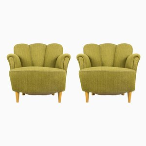 Shellback Armchairs, 1950s, Set of 2