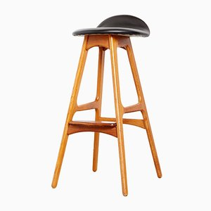 Mid-Century Danish Teak Barstool OD-61 by Erik Buch for Oddense Maskinsnedkeri / Od Furniture