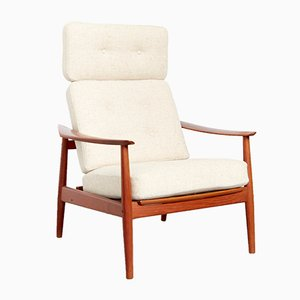 Vintage FD 164 High Back Armchair by Arne Vodder for France & Søn / France & Daverkosen, 1970s