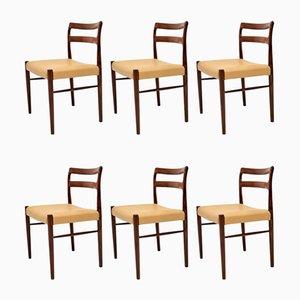 Esszimmerstühle aus Palisander von Soren Willasden, 1960er, 6er Set