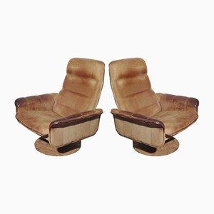 Sedie DS50 girevoli regolabili di De Sede, anni '70, set di 2