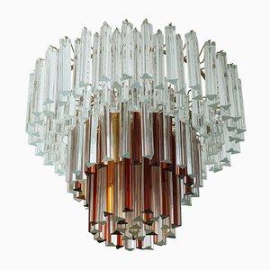 Lámpara de techo de cristal de Murano de Paolo Venini, años 60