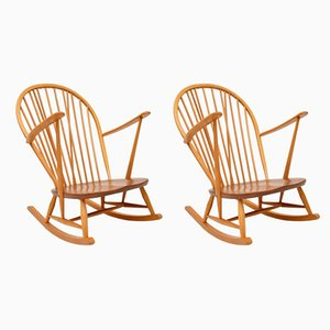Solid Elm Rocking Armchairs by Ercol, 1960s, Set of 2