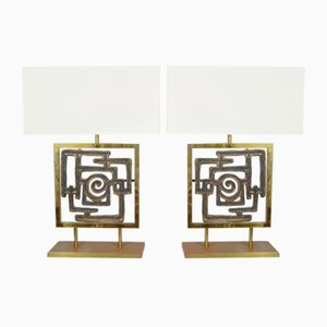 Vintage Table Lamps by Luciano Frigerio, 1970s, Set of 2