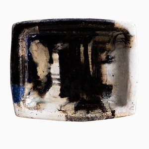 Danish Square Earthenware Bowl from Jeppe Hagedorn-Olsen, 1968