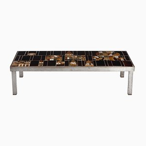 Mid-Century Le Village Ceramic Tile Coffee Table by Roger Capron
