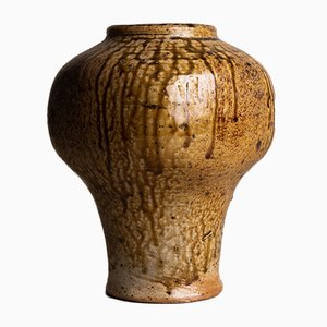French Stoneware Meiping Vase by Pierre Digan for Cher La Borne, 1970s