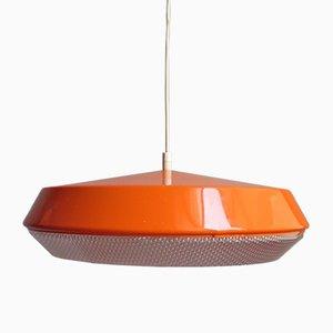 Lámpara colgante naranja, años 80