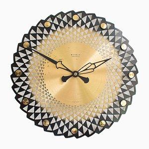 Reloj de pared Mid-Century, años 60