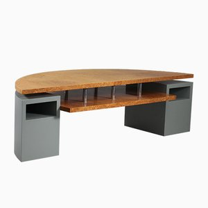 Postmodern Architectural Root Veneer Coffee Table from Wieser Vienna, 1980s