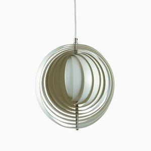 Lámpara de techo Moon de Verner Panton para Louis Poulsen, años 70