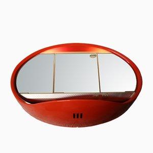 Spiegel mit orangenem Rahmen für Curver