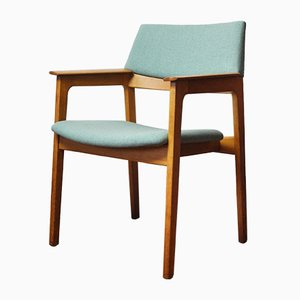 Danish Modern Solid Oak Armchair, 1960s
