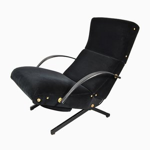 Vintage Italian P40 Lounge Chair by Osvaldo Borsani for Tecno, 1950s