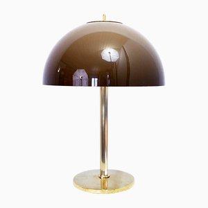 Lámpara de mesa de latón y metacrilato de Cosack, años 60