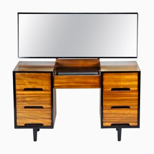 Vintage Walnut Veneer Dressing Table with Mirror by John & Sylvia Reid for Stag, 1960s